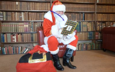 Story with Santa in His Library at Craufurdland Castle for Glasgow Children's Hospital Charity